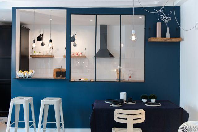 Decoration Cuisine Avec Ouverture Sur Le Salon  Grâce à une baie
