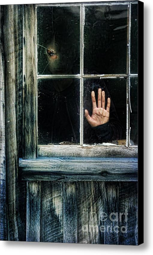 Young Woman Looking Through Hole In Window Canvas Print Canvas Art By Jill Battaglia Window Photography Window Painting Surrealism Photography
