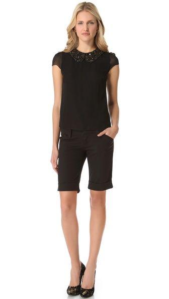 Cuffed Bermuda Shorts | Dressy shorts, Short outfits and Bermuda ...