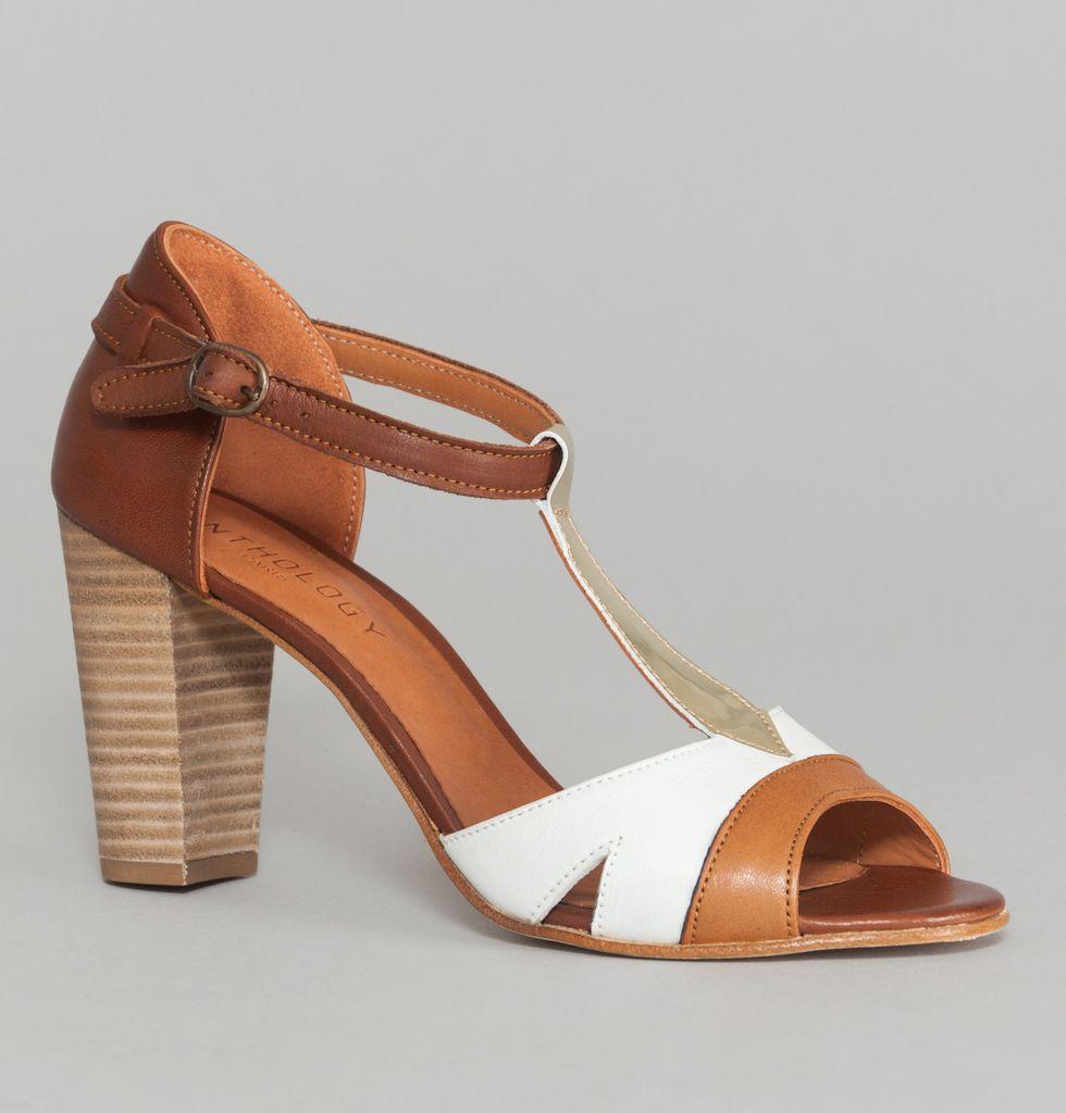 131a4374538000 Sandales Anja Sauvage/Cognac Anthology Paris en vente chez L'Exception Soldes  Chaussures,
