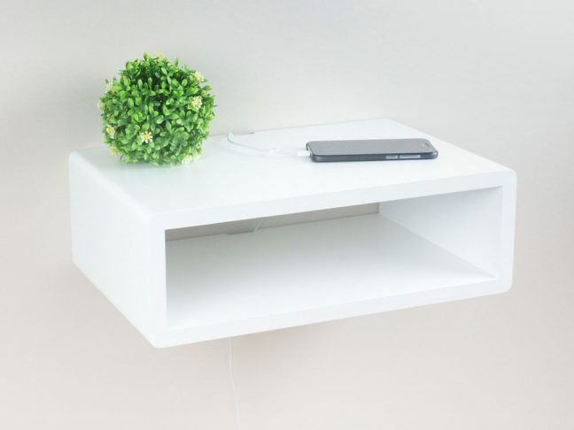 Best Whyte Slim Floating Nightstand Floating Bedside Table 400 x 300