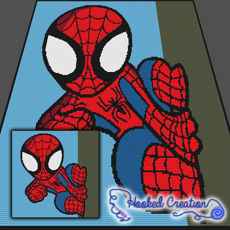 Spidey SC Throw Blanket Crochet Pattern - PDF Download   Graphgrams ...