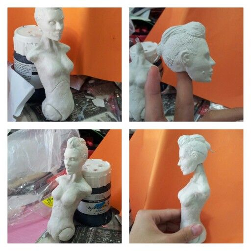 clara lille fanart project... body progress ubisoft watch dogs sculpture figure figurine diy homemade