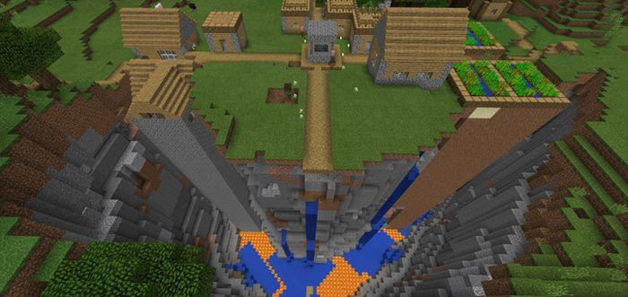 Ravine Village 12 Beta Only Seed For Minecraft Pe
