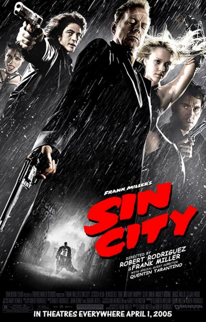 Sin City Directed By Robert Rodriguez Frank Miller With Special Guest Director Quentin Tarantino Sin City Movie City 2005 Sin City