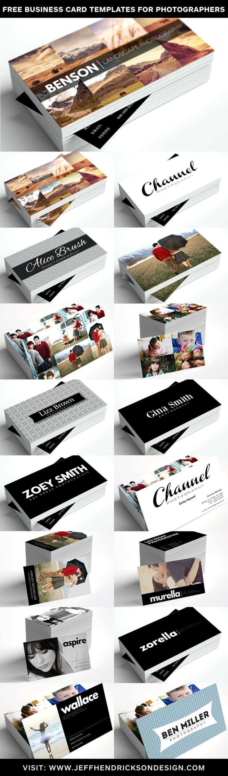 13 Free Business Card Templates For Photographers Hi Res Printable
