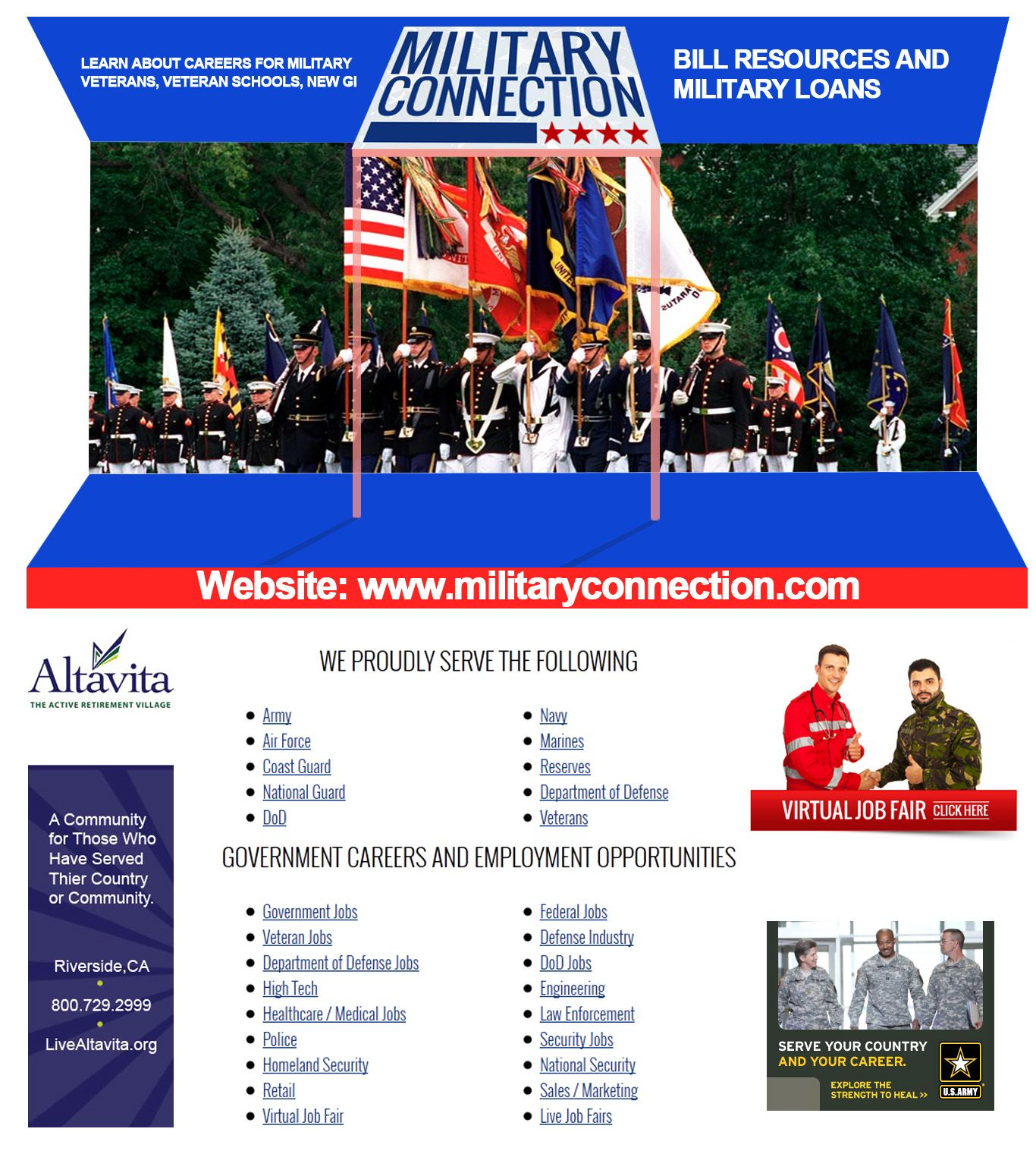 If You Are A Veteran And Want Information On Veterans Higher Education Then Visit Militaryconnection Com And Get Adequa Virtual Jobs Job Fair Higher Education