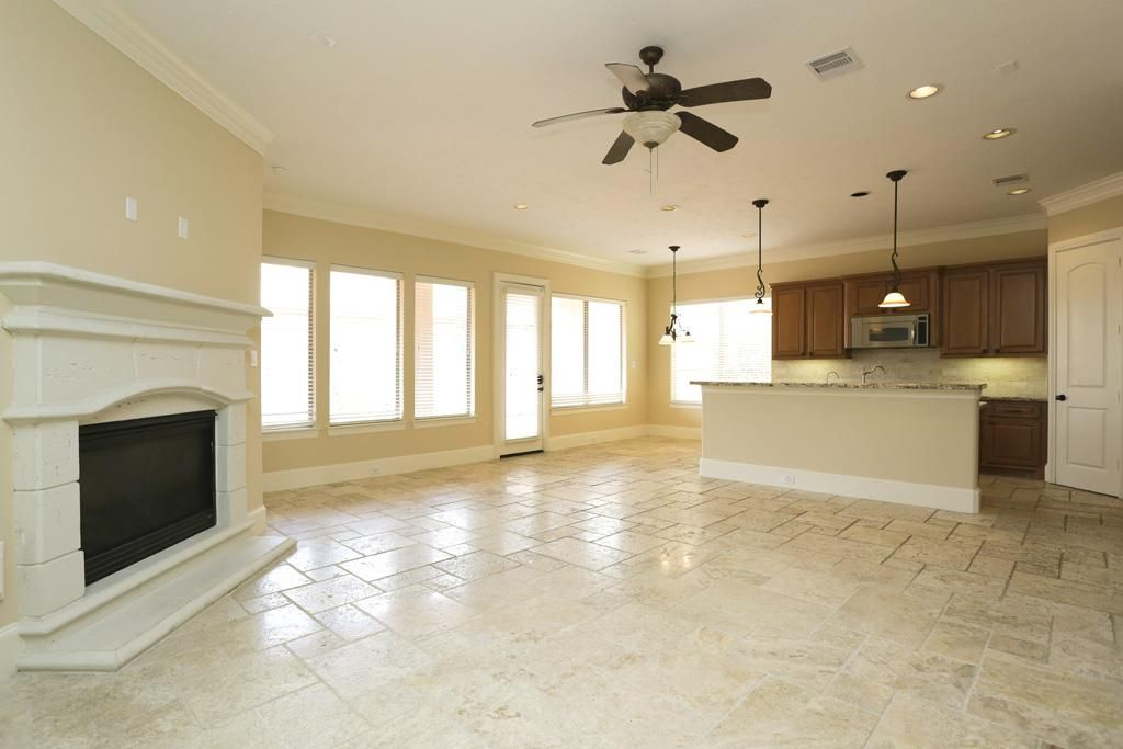 living rooms with travertine floors - Google Search