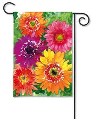 #Gerbera Daisy Garden Flag.  100% All-Weather Polyester. Fade and Mildew Resistant. Machine washable. #gardenflag #flag