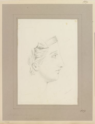 A Woman S Face In Profile Dated 24 May 1858 By Princess
