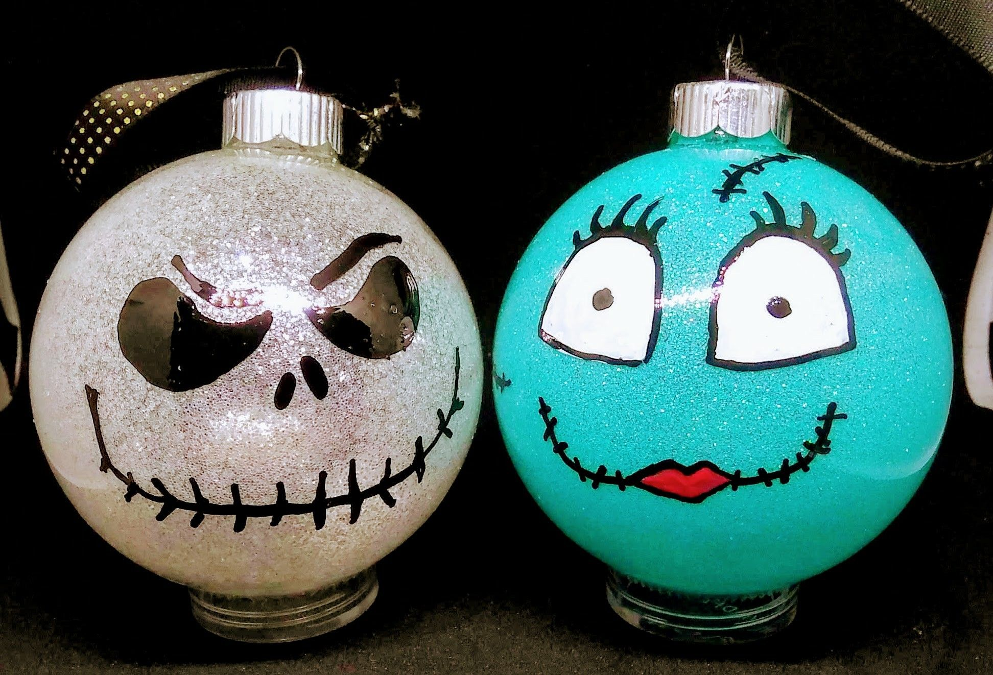 Diy Nightmare Before Christmas Ornaments Nightmare Before Christmas Ornaments Christmas Bulbs Christmas Ornaments