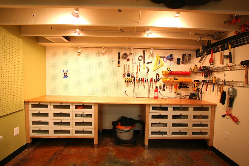 Ikea Hack Using Kitchen Cabinets And Counter Tops In The Garage