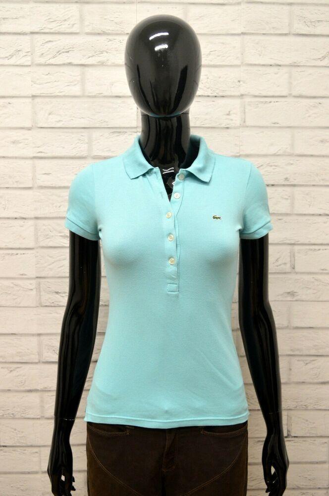 Donna Lacoste Shirt Maglia Camicia Polo 34 Maglietta Taglia Size wP8kn0NOXZ