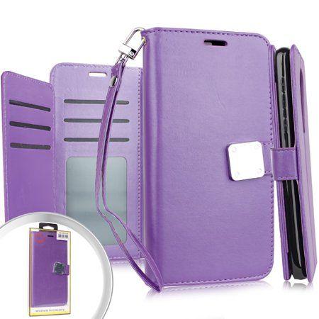 MUNDAZE Samsung Galaxy J3 2018/J3 Star/Amp Prime 3 Case Storage Faux Leather Wallet Purple - Walmart.com