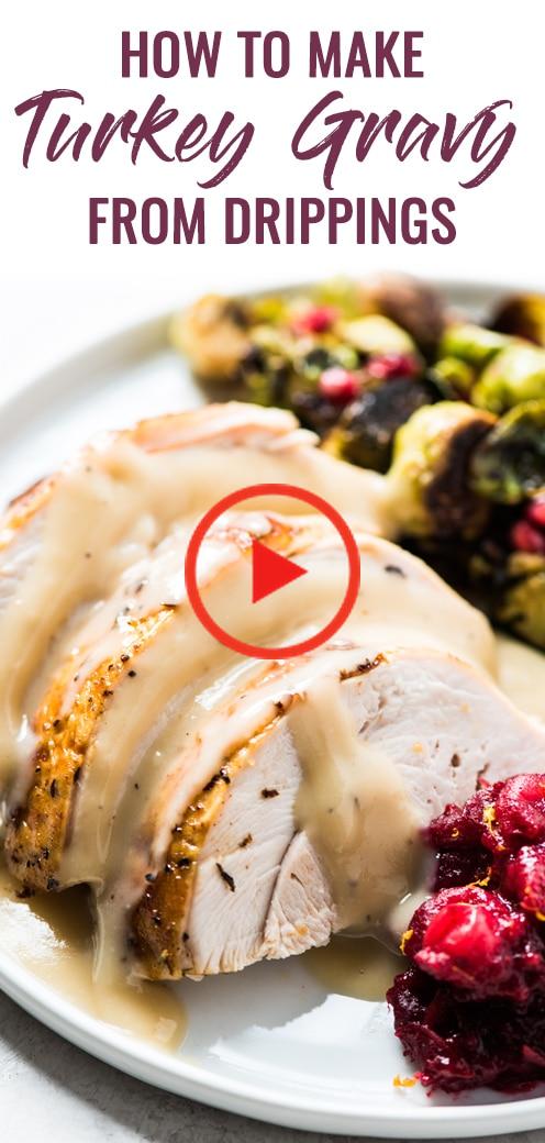How to Make Turkey Gravy from Drippings #turkeygravyfromdrippingseasy