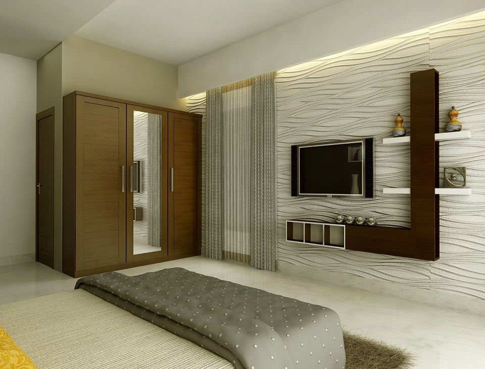 Modern lcd cabinet and wardrobe design for bedroom id974 for Bedroom cabinet designs india