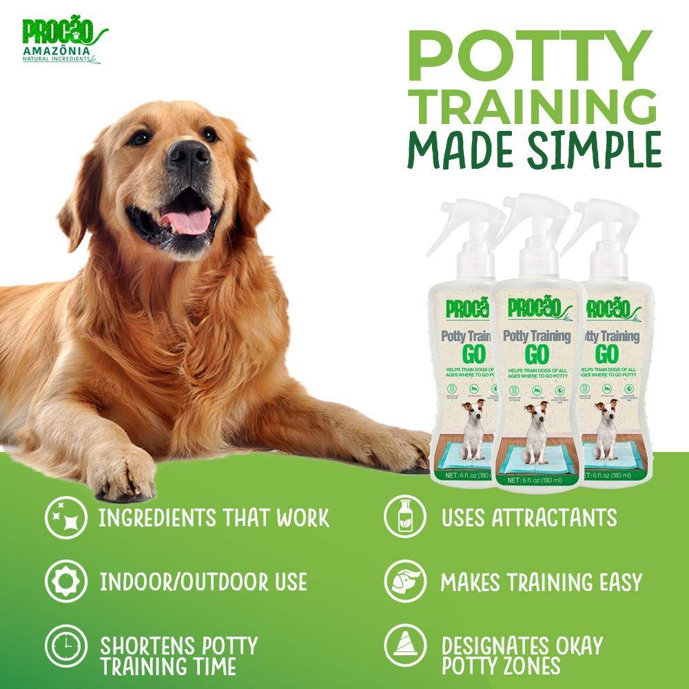 Procaƒo Dog Potty Trainer Potty Training Go 6 Fl Oz Bottle Indoor