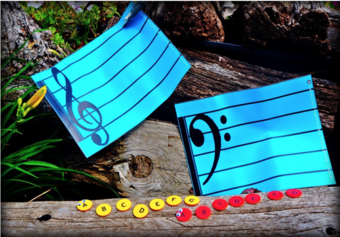 These wonderful mats and tokens will help your student with music note reading.