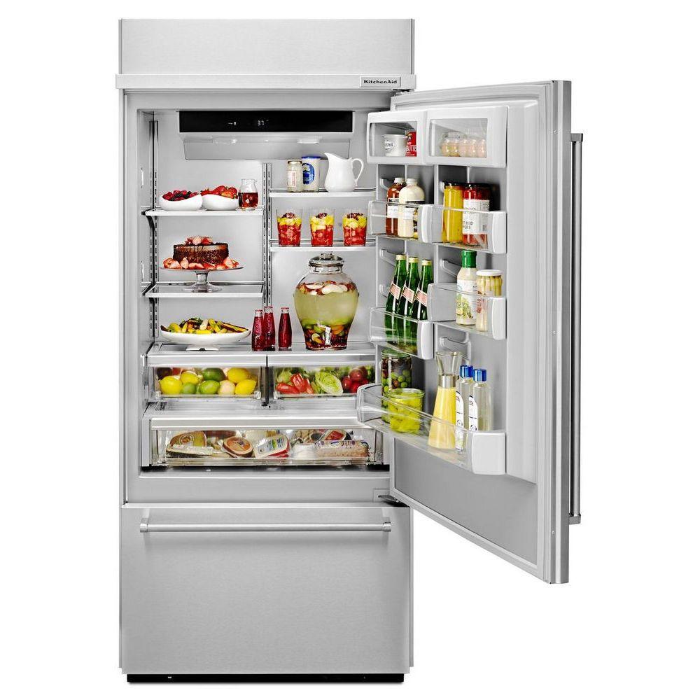 Kbbr306ess kitchen aid built in refrigerator
