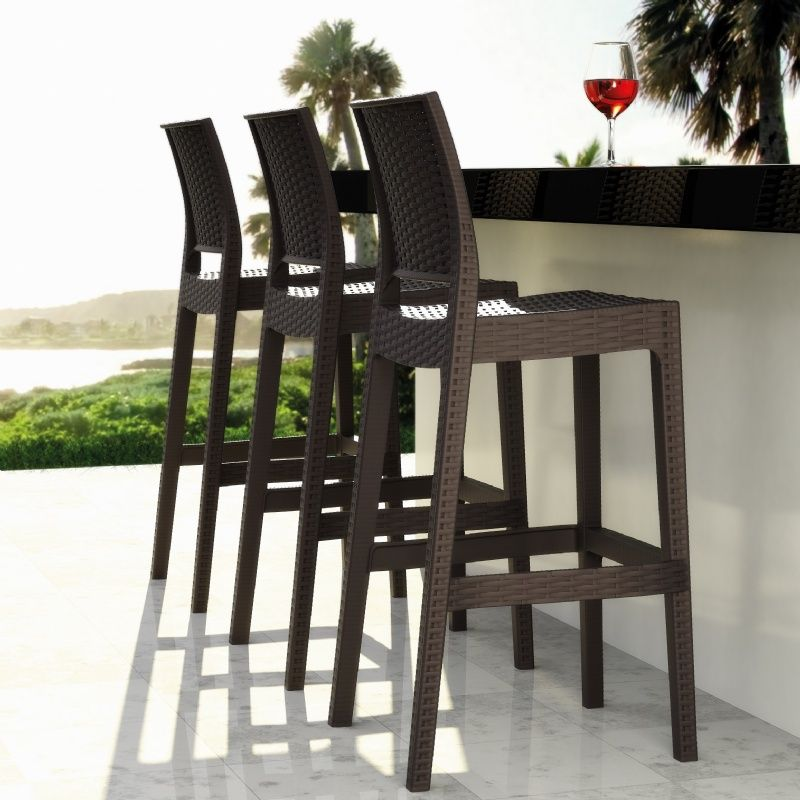 promo code 3c834 e5529 Cast Aluminum Outdoor Swivel Bar Stools. Elizabeth Bar Set ...