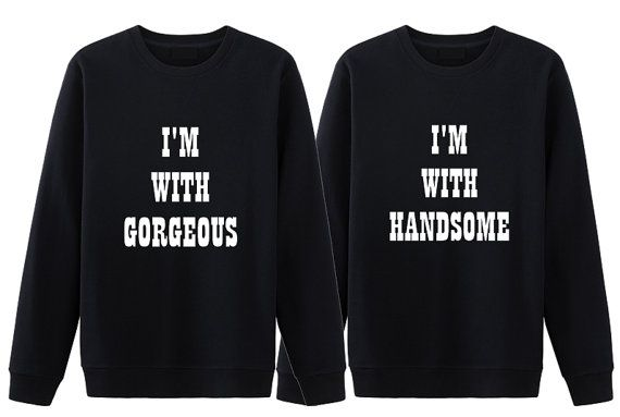 04b6cb205 Funny his and her shirts. Matching couple sweatshirt. Cute couple  sweatshirt. Handsome gorgeous shirts. Gift for Couple. Anniversary shirts.