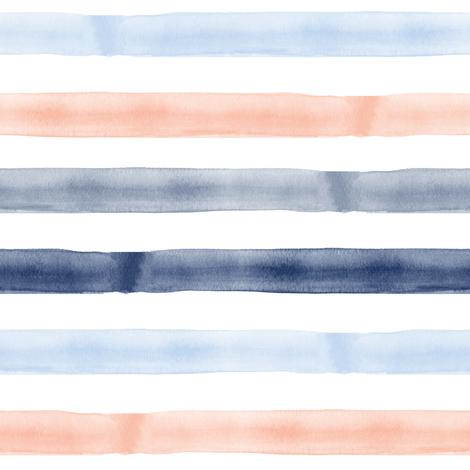 Streifen Gestreift Wasserfarben Aquarell Blau Und Ros 233