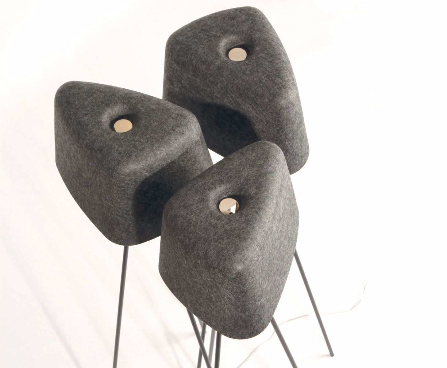 The Texture And Depth Of Felt Adds Warmth To Any Spaces Made From Double Layered Felt Heat Pressed Into A Soft Organic Tom Dixon Fabric Floor Lamp Floor Lamp