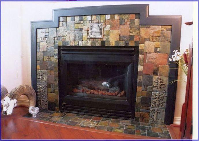 tile around fireplace ideas Fireplace Ideas Pinterest Tile ideas