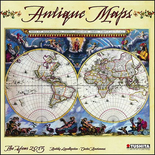 Antique maps 2013 wall calendar pinterest antique maps and walls antique maps wall calendar this new wall calendar for 2013 features reproductions of ancient maps of countries continents and the world gumiabroncs Images