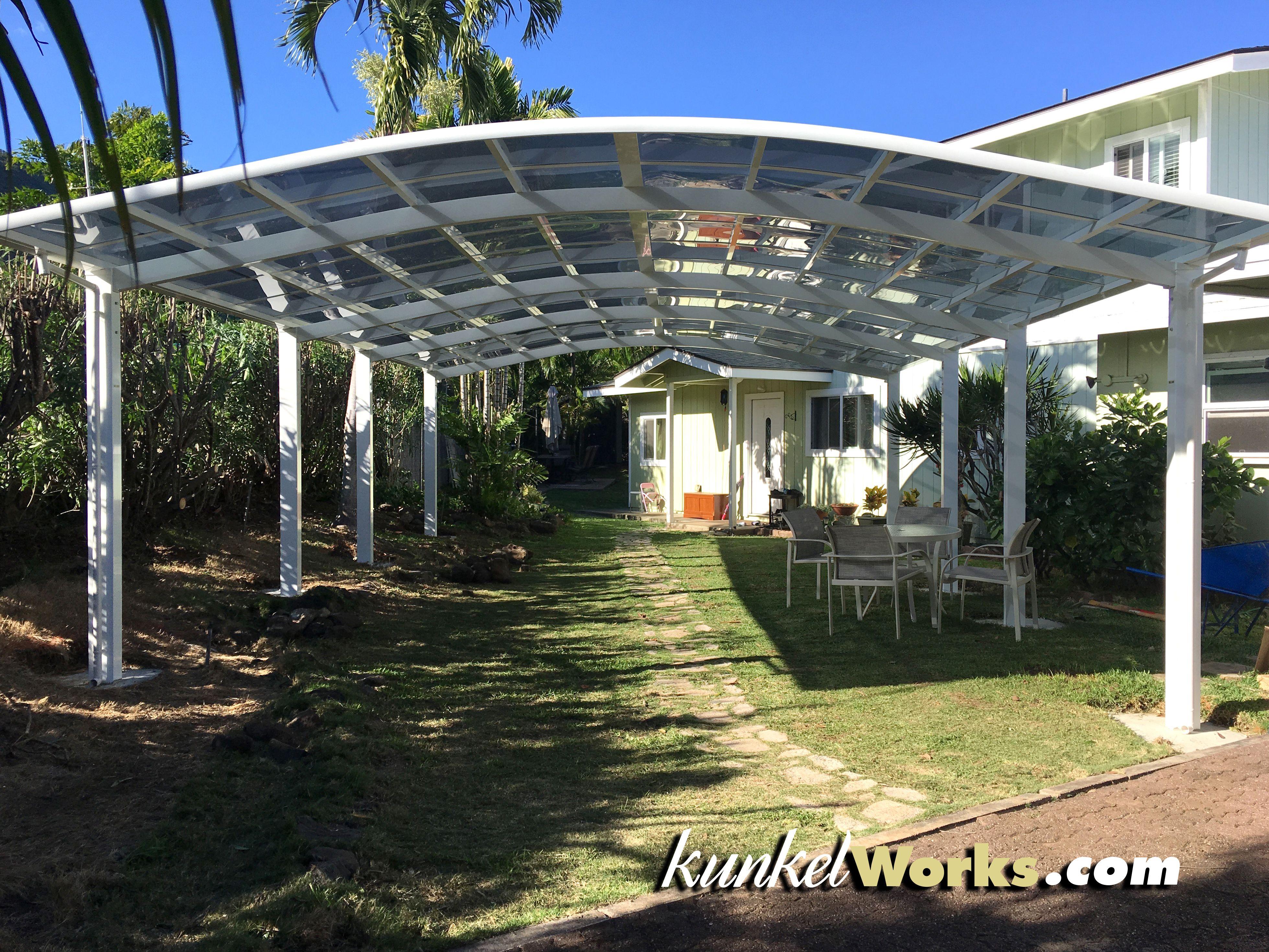 Join Two Carports To Create A Perfect Family Event Venue Aluminum Carport Aluminium Gates Outdoor Structures