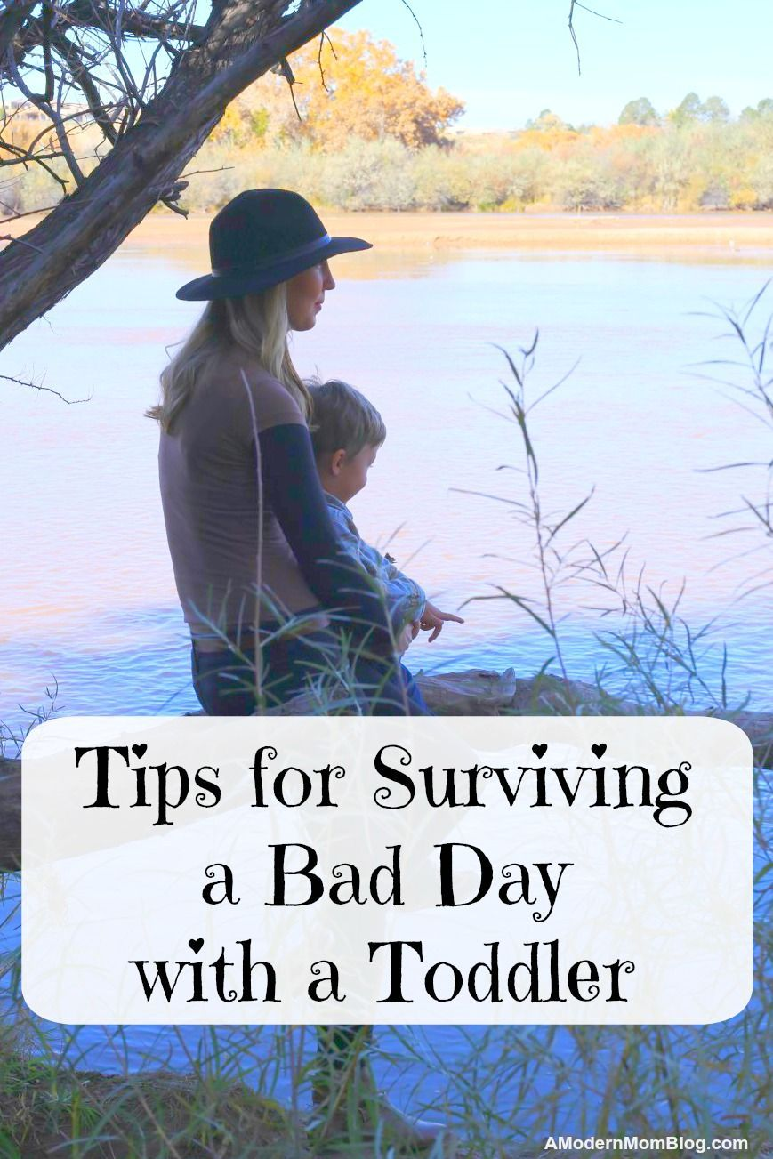 Surviving a bad day with a toddler - Tips from a mom of 3 for new moms, dads, and parents. These simple parenting tips and parenting advice work for bad behavior with toddlers and young kids #parentingtoddler #fussytoddler #toddlerhood