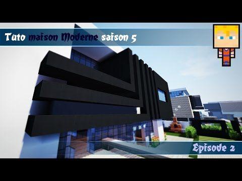 Minecraft : TUTO maison Moderne n°5 EP2/3 - http://dancedancenow.com ...