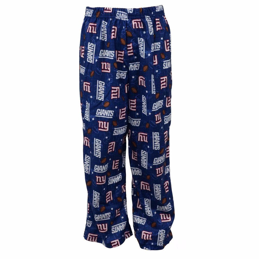 Gerber NFL New York Giants Youth Kids Blue Pajama Lounge Pants Bottoms