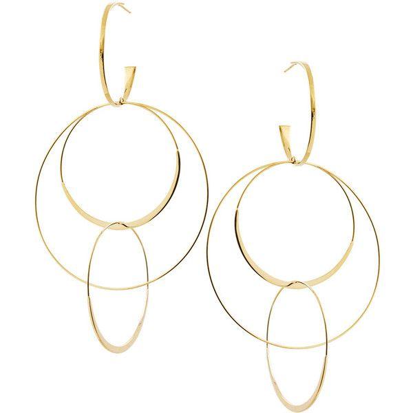 Lana Jewelry Bond Large 14K Interlocking Flat Hoop Earrings 6hRBiC8OwL