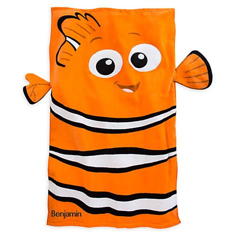 b54560421547 Nemo Beach Towel for Baby - Personalizable