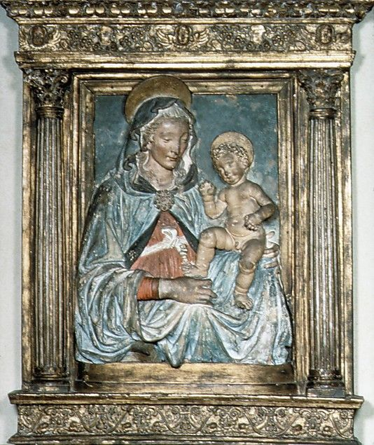 Follower of Andrea del Verrocchio, Virgin and child (Firenze, 15th century, Metropolitan Museum of Art, New York)