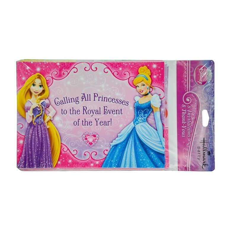 Hallmark Disney Princess Birthday Party Invitations & Thank You ...
