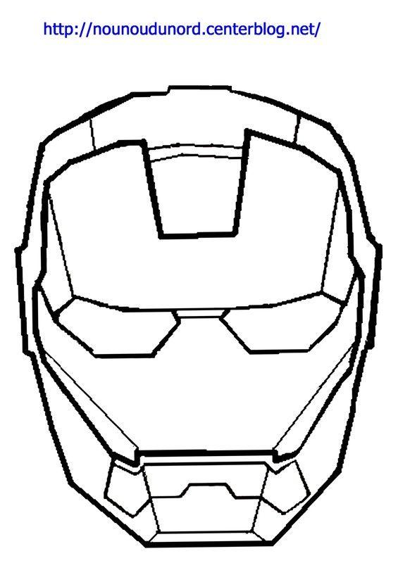 Coloriage Iron Man Dessiné Par Nounoudunord