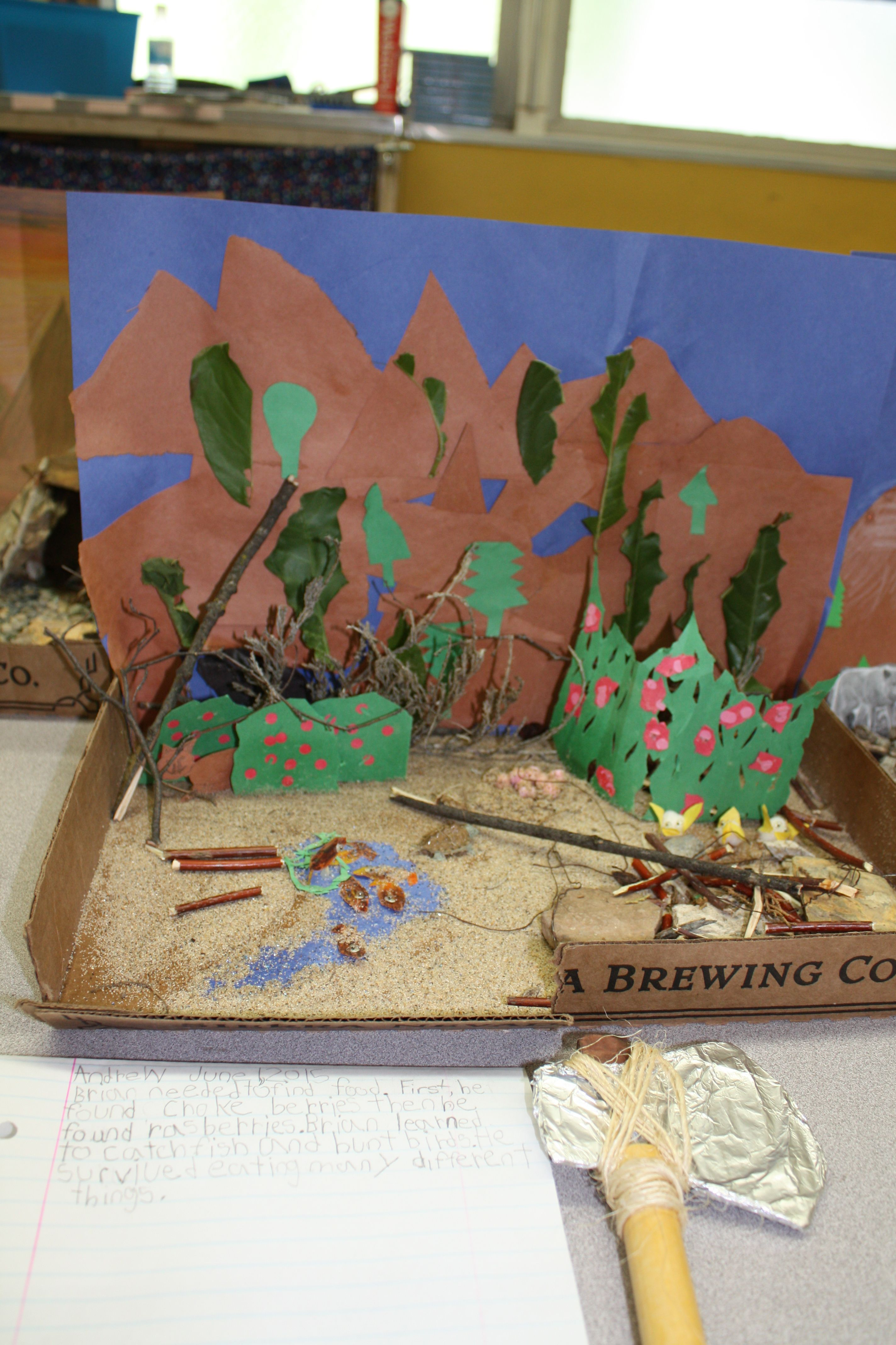 This Diorama Shows The Food Sources That The Author Wrote