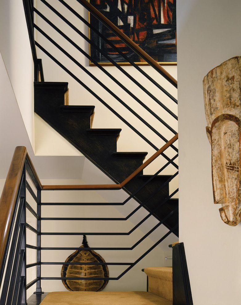 Modern Stair Railing Staircase Contemporary With Wall Decor Staircase  Landing