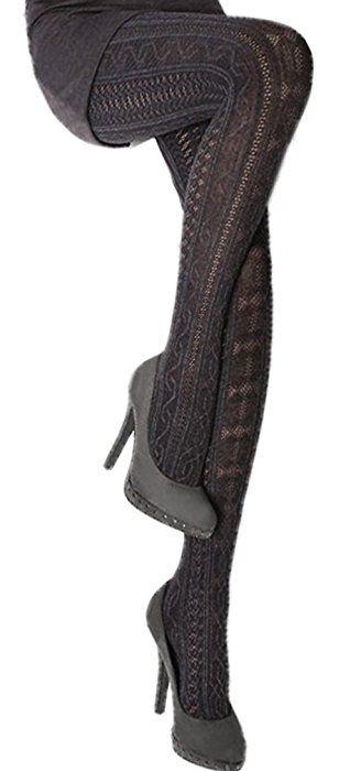 Fabiane 1 Black Cable Knit Pattern Medium At Amazon Womens Clothing