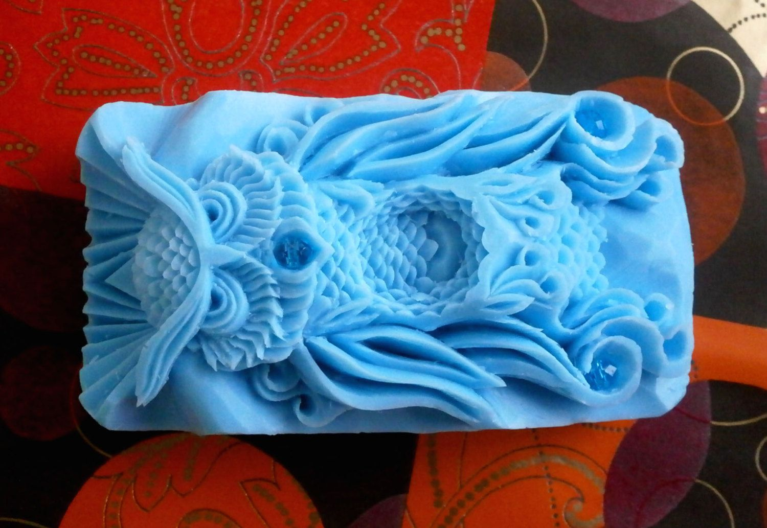 Soap owl sculpture carving bar soap hand carved soap owl carving