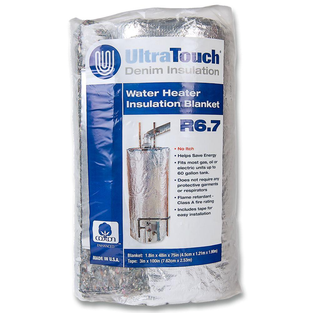 Ultratouch 48 In X 75 In Denim Insulation Hot Water Heater Blanket 60301 48752 The Home Depot Water Heater Blanket Blanket Insulation Hot Water Heater