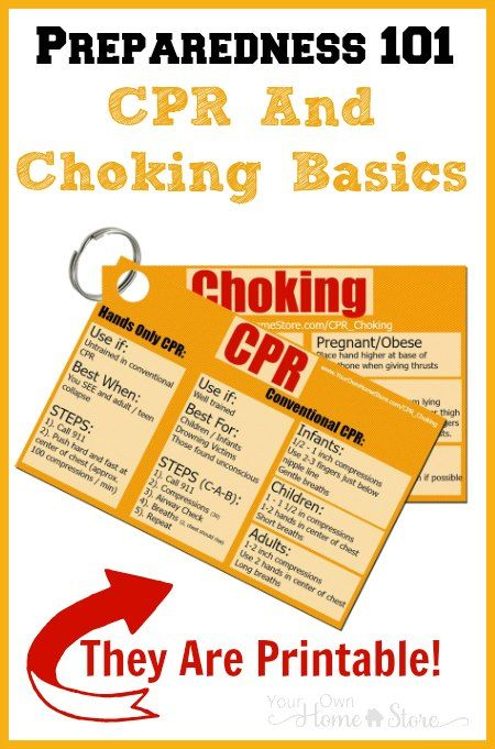 Cpr And Choking First Aid Basics