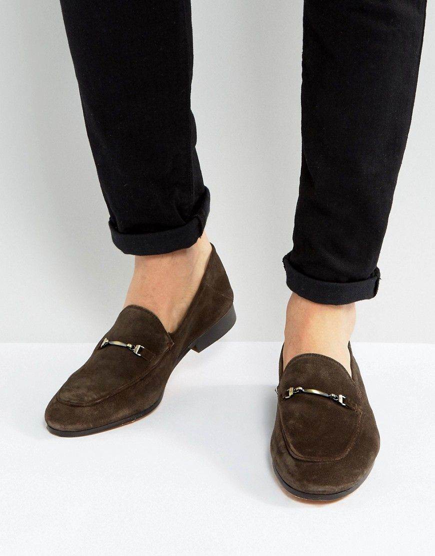 cb839b5ed67 Get this Kg Kurt Geiger s loafers now! Click for more details. Worldwide  shipping. KG Kurt Geiger Max Suede Smart Loafers - Brown  Loafers by Kurt  Geiger