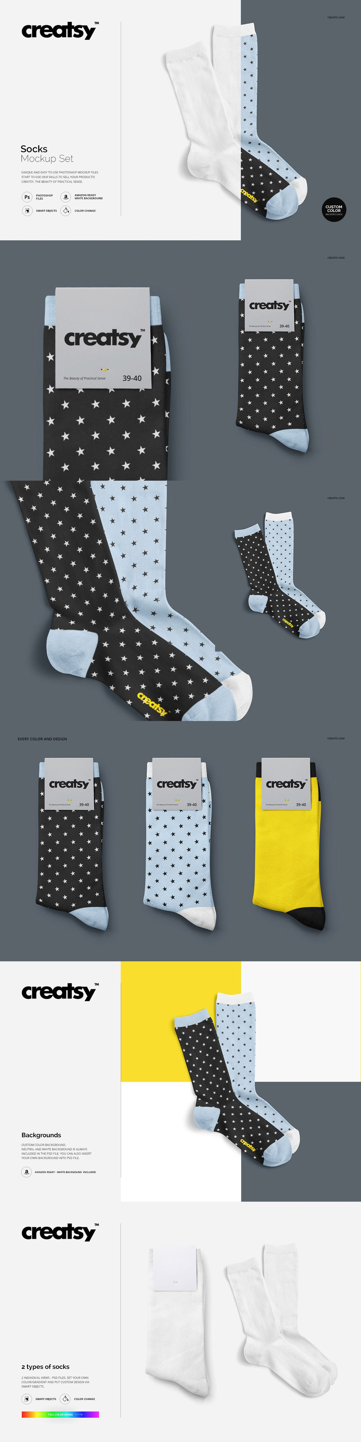 Download Socks Mockup Set On Behance Socks Socks Women Mockup