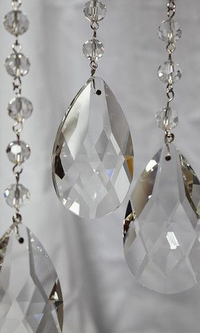 Teardrop Chain Crystal Prism 3 Feet Wedding Tree Crystals Crystals For Chandeliers Crystals For Weddings Crystal Suncatchers Hanging Crystals Diy Chandelier