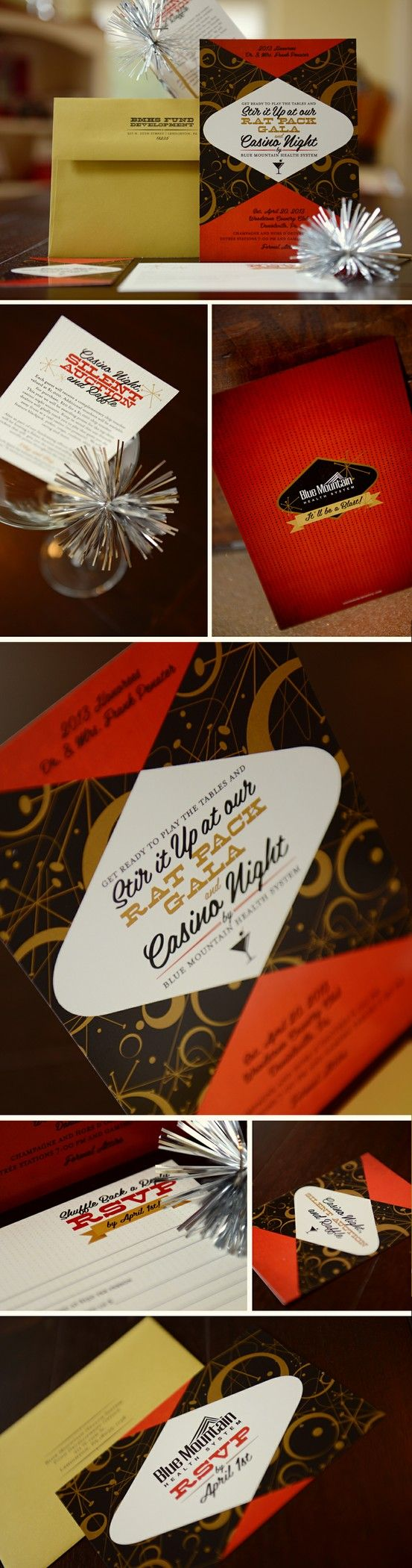 Awesome invitation idea for a casino/rat pack party | The Rat Pack ...