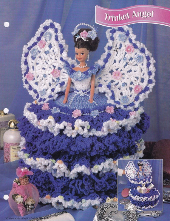 Trinket Angel, Annie\'s Attic Fashion Doll Clothes Crochet Pattern ...