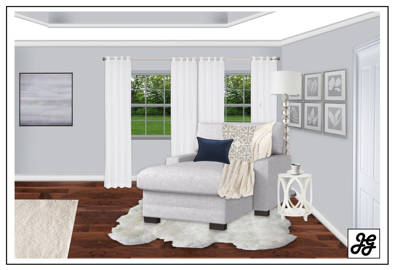 Coastal bedroom reading nook Modern farmhouse living room design ...